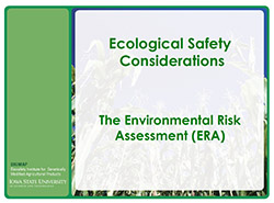 Ecological Safety Considerations ERA Learning Module