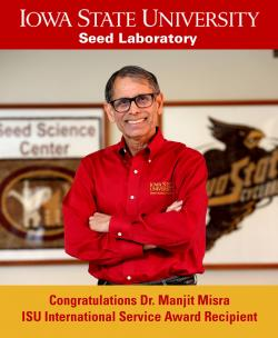 Misra to be Awarded ISU International Service Award