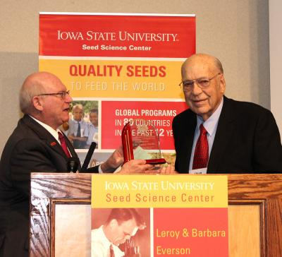 ISU SSC Presents Dr. Owen J. Newlin Lifetime Achievement Award