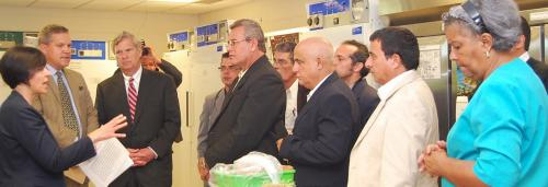 Vilsack and Cuban Delegation Tour Seed Science Center